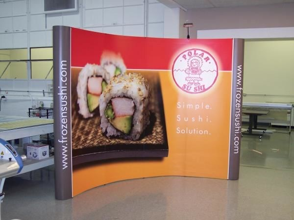 PU008 - Custom Pop-Up Trade Show Booth for Restaurant